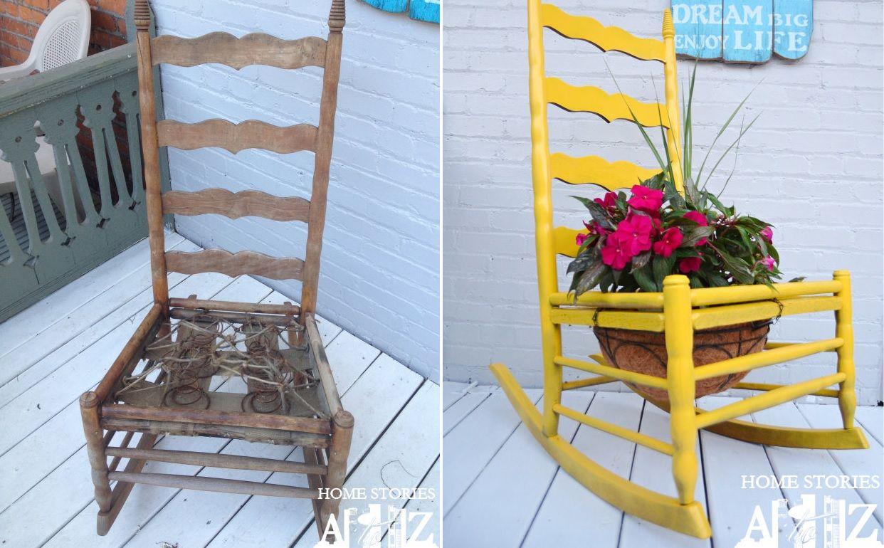 Rocking chair planter