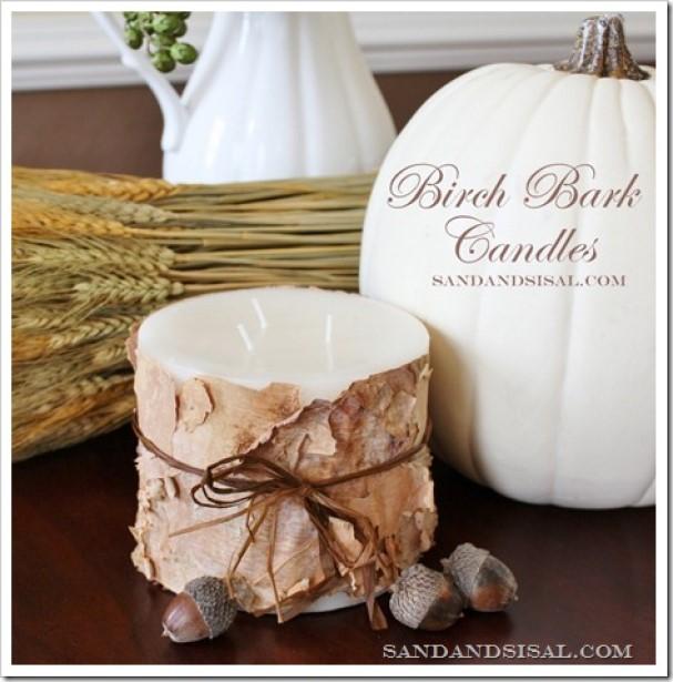 Romantic Birch Candles