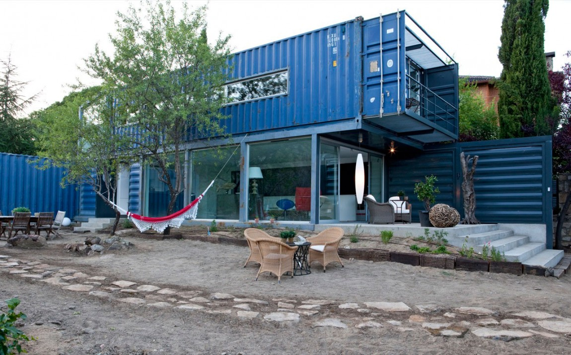 Shipping Container House in El Tiemblo Street View & 22 Most Beautiful Houses Made from Shipping Containers