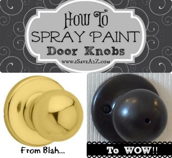 Spray paint knobs