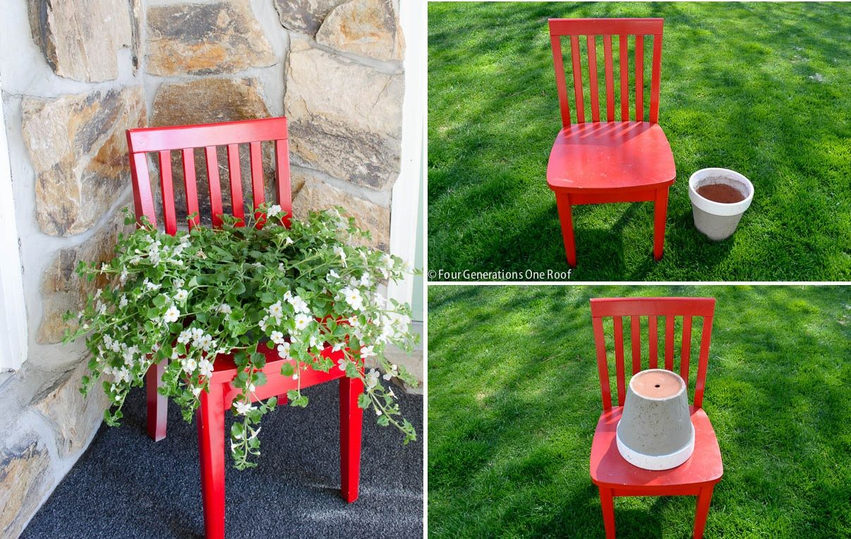 Marvelous The Process To Create A Chair Planter