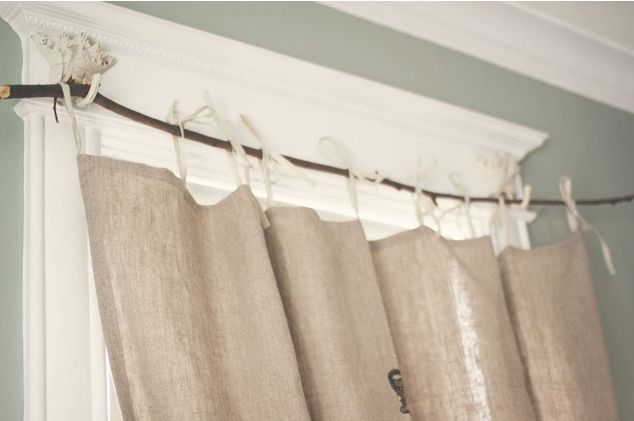 Tiny branch curtain rod