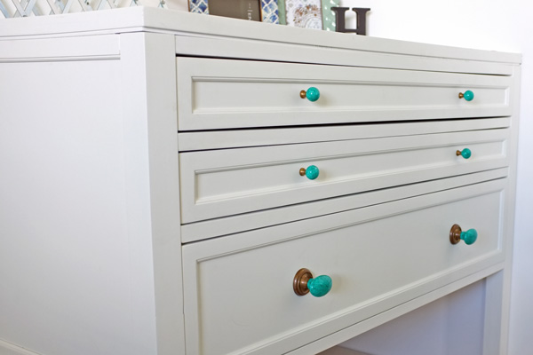 Turquoise drawer kbobs