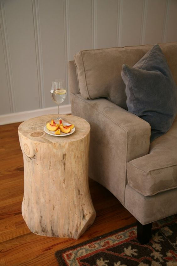 Wood stump for sofa
