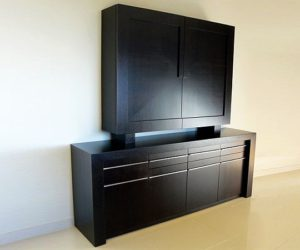 The Atria Wooden Highboard with Doors