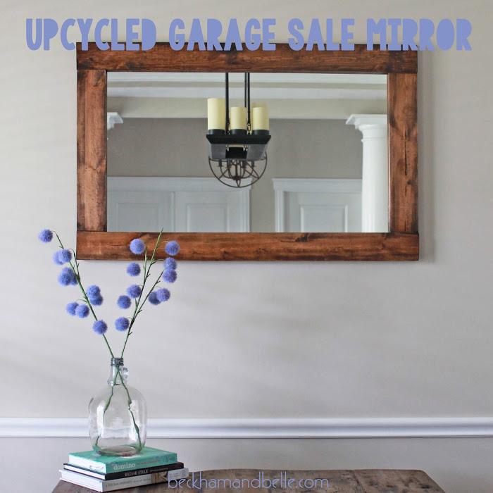Woodn rectangular mirror