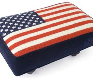 Marvelous The American Flag Needlepoint Stool Home Design Ideas