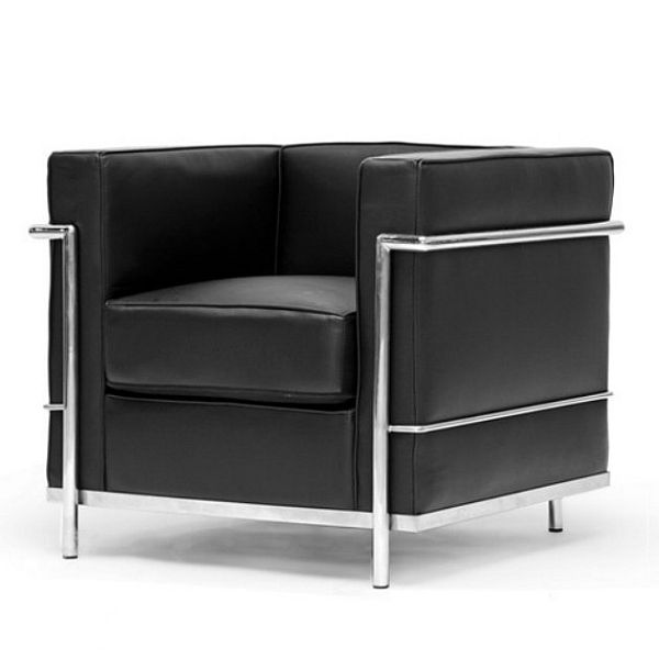 black le corbusier style chair. Black Bedroom Furniture Sets. Home Design Ideas