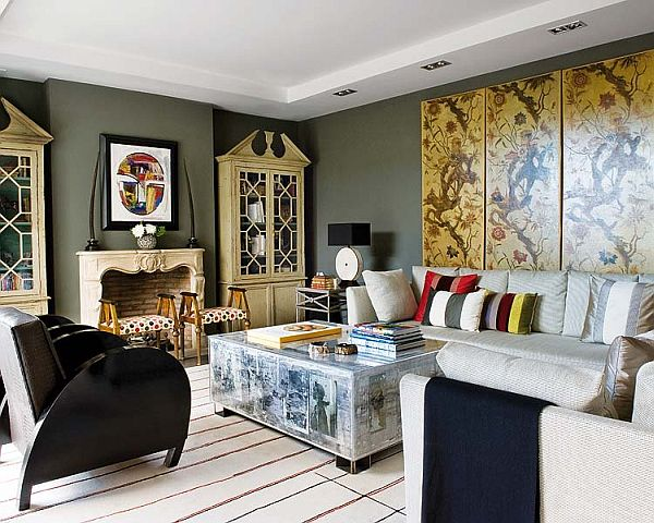 A stylish and artistic interior design view in gallery