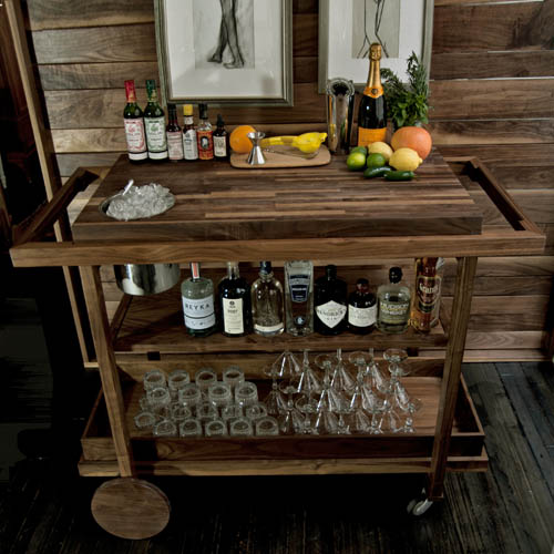 Traditional Mobile Bar Cart