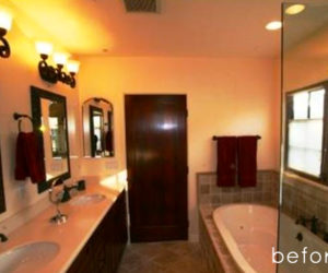 Elegant  Mirror bathroom makeover