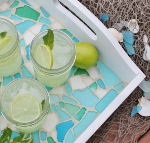beautiful-diy-sea-glass-tray-1
