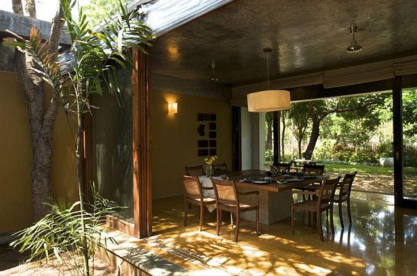 Traditional indian house by khosla associates for Indian home garden design