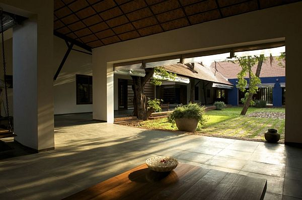 Traditional indian house by khosla associates for Traditional house plans in india