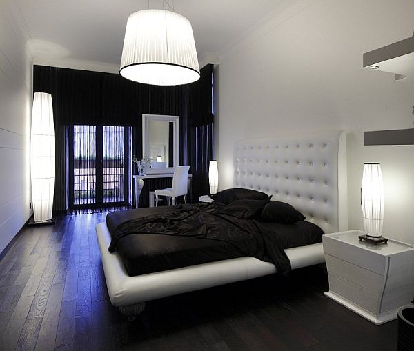 The black and white magic design - Couleur chambre de nuit ...