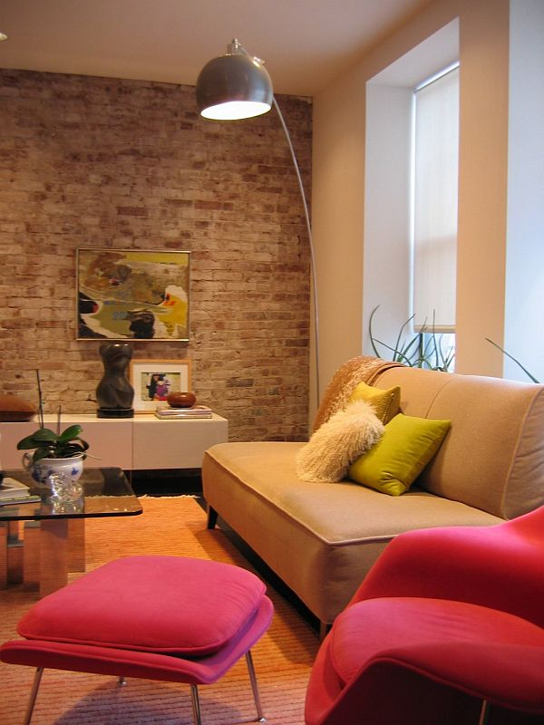 choose stone and brick for interior design - Wall Interior Design Photos