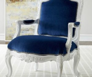 Royal dark blue upholstery chair
