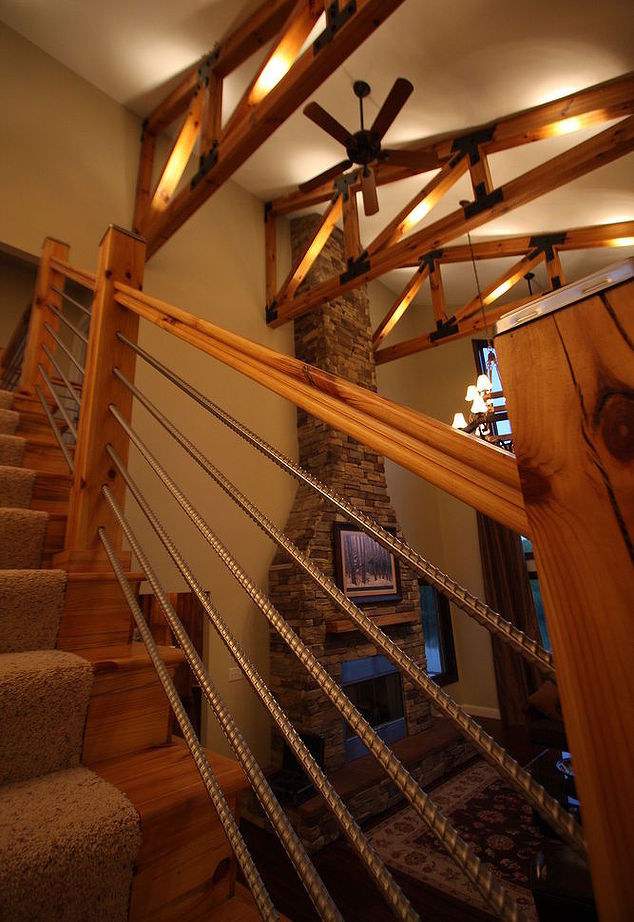 cable rail staircase