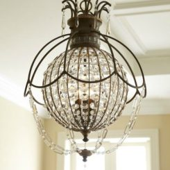 Inventive paperclip chandelier design antique encased chandelier with crystals aloadofball Gallery