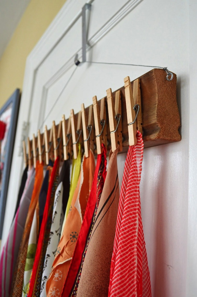 clothespin holder scarf holder