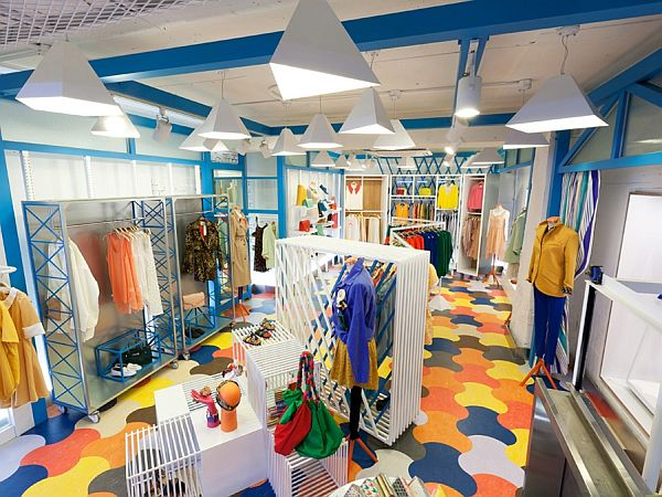 Spice fashion colorful shop interior design for Interior designs of boutique shops