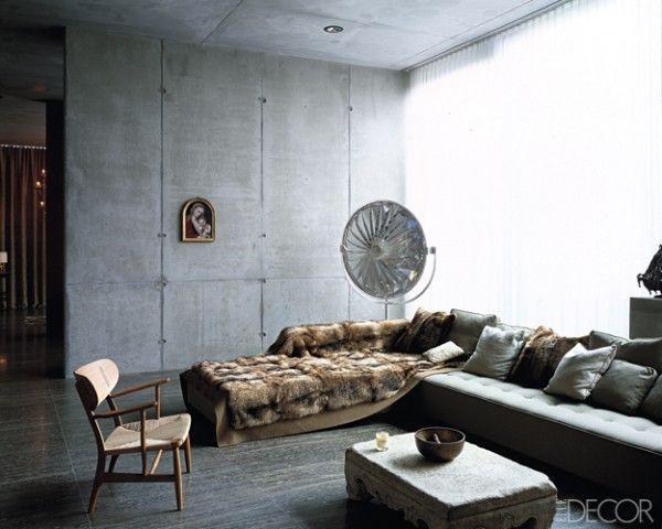 Concrete Wall Penthouse In Berlin