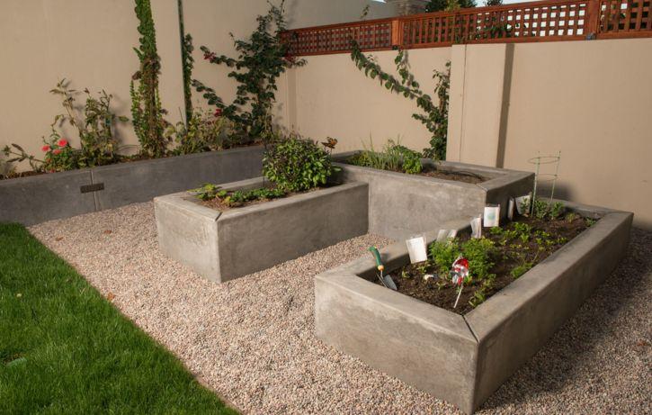 concrete planters for garden