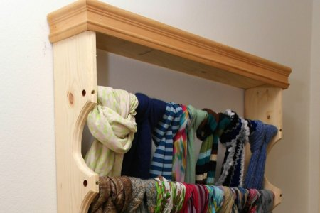 custom scarf rack