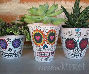 Colorful Hand Painted Furniture By Kare Design · Unusual Hand Painted  Planter