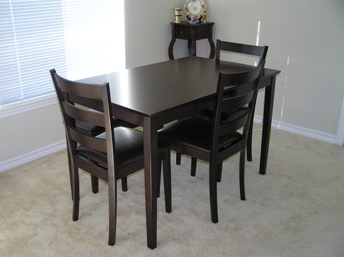 The Set Includes A Dining Table, 3 Side Chairs And A Bench. View In Gallery