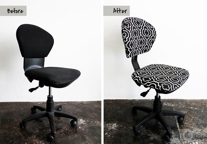 diy office chair mokeover