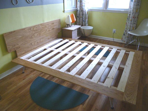 How to build your own bed from scratch three tutorials for Simple diy platform bed