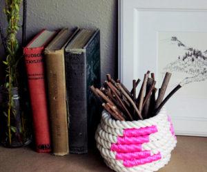 Cute DIY Coiled Rope Basket