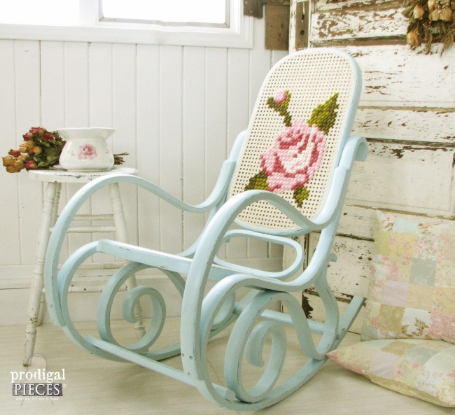 embroidered rocking chair diy