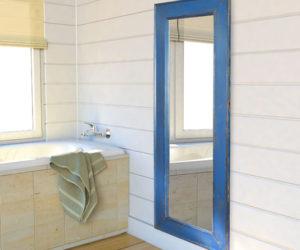 Distress Blue Mirror