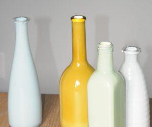 Inside painted bottles