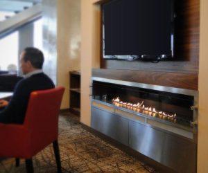 The Fine Line Automatic bio fireplace
