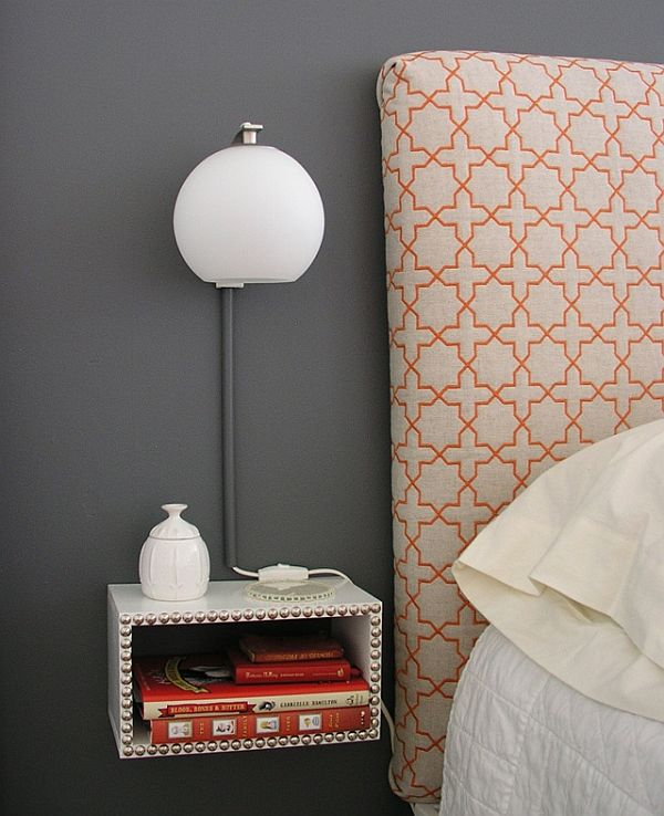 how to build a floating nightstand that matches your bedroom Floating Nightstand Ideas