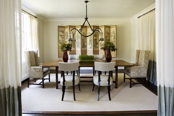 21 dining room design ideas for your home for Formal dining room table decorating ideas