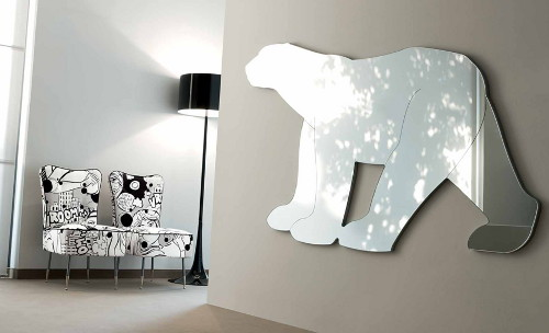 funky mirrors for living room animal shaped mirrors by creazioni 23165