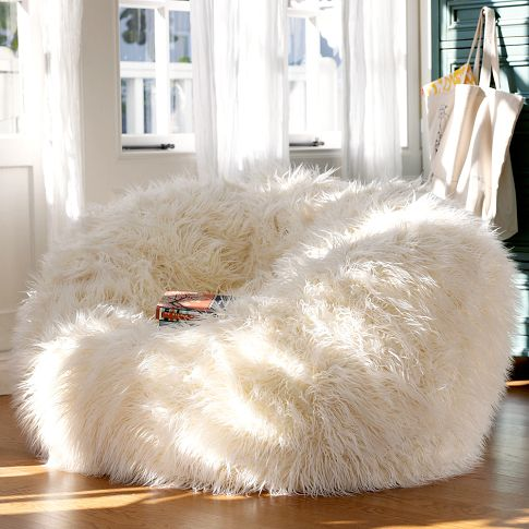 furry and cozy beanbags. Black Bedroom Furniture Sets. Home Design Ideas
