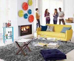 Modern drake grey shag rug