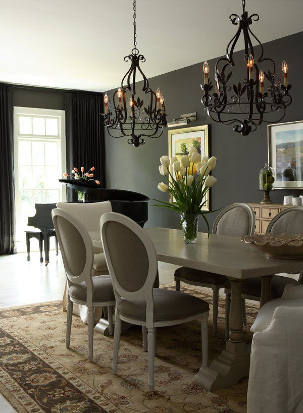 Gray interior design ideas for your home Dining room color ideas for a small dining room