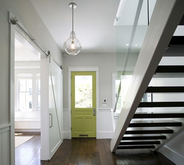 Paint The Door For A More Modern Look And Turn It Into Sliding