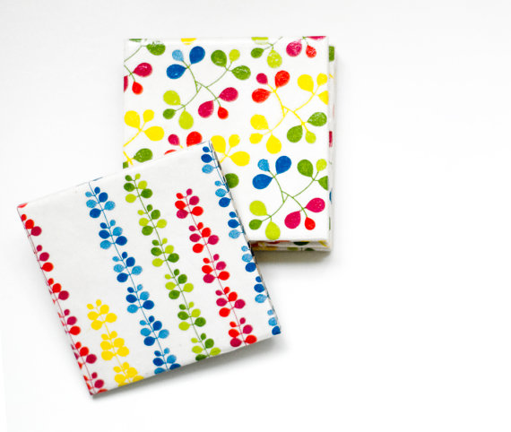 Spring Ceramic Tile Coasters
