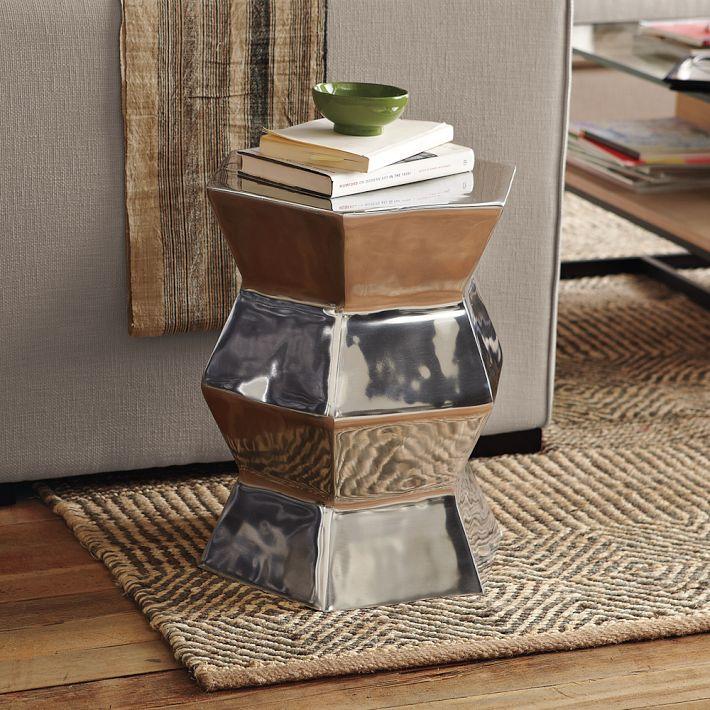 Aluminum Hexagon Side Table
