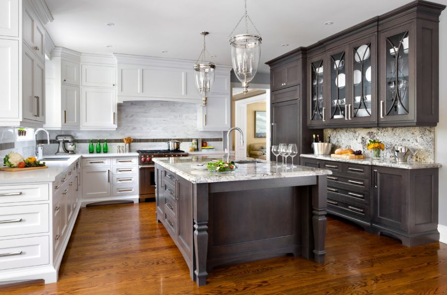 Top Kitchen should kitchen cabinets match the hardwood floors?