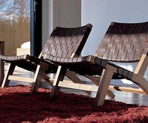 Elegant and Relaxing 128 Lounge Chair from De La Espada