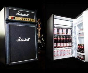 Mix your love of rock with Marshall Amp fridge