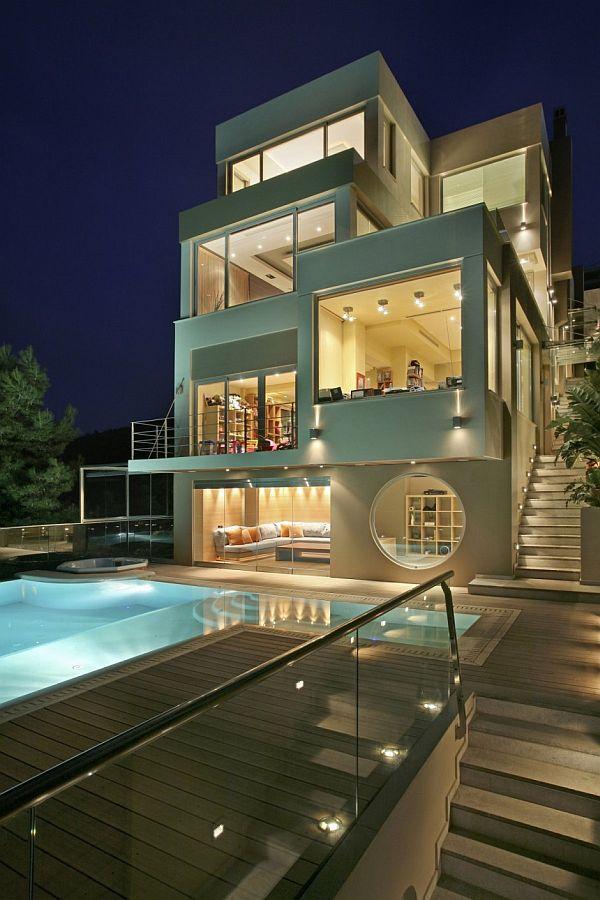 Modern Oikia Panorama Voulas Villa From A Greek Designer on modern greek interior design, modern greek style homes, modern greek architecture in greece,